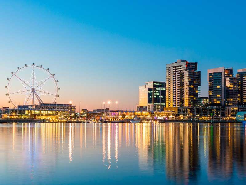 Cruzeiro no Réveillon em Melbourne, Austrália
