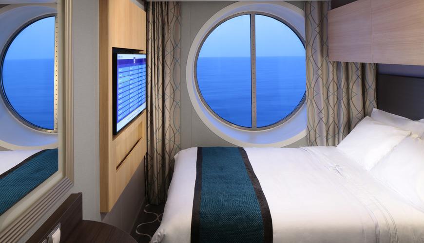Cabine com vista para o mar