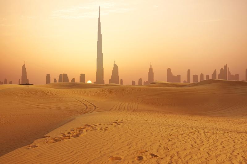 Skuline do DEserto em Dubai, Golfo Pérsico