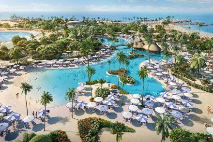 Oasis Lagoon do Perfect Day at Cococay, em Bahamas - um dos destinos da Royal Caribbean