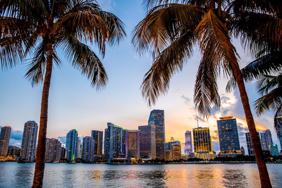 Miami, na Florida - um dos pontos de partida do Allure of the Seas