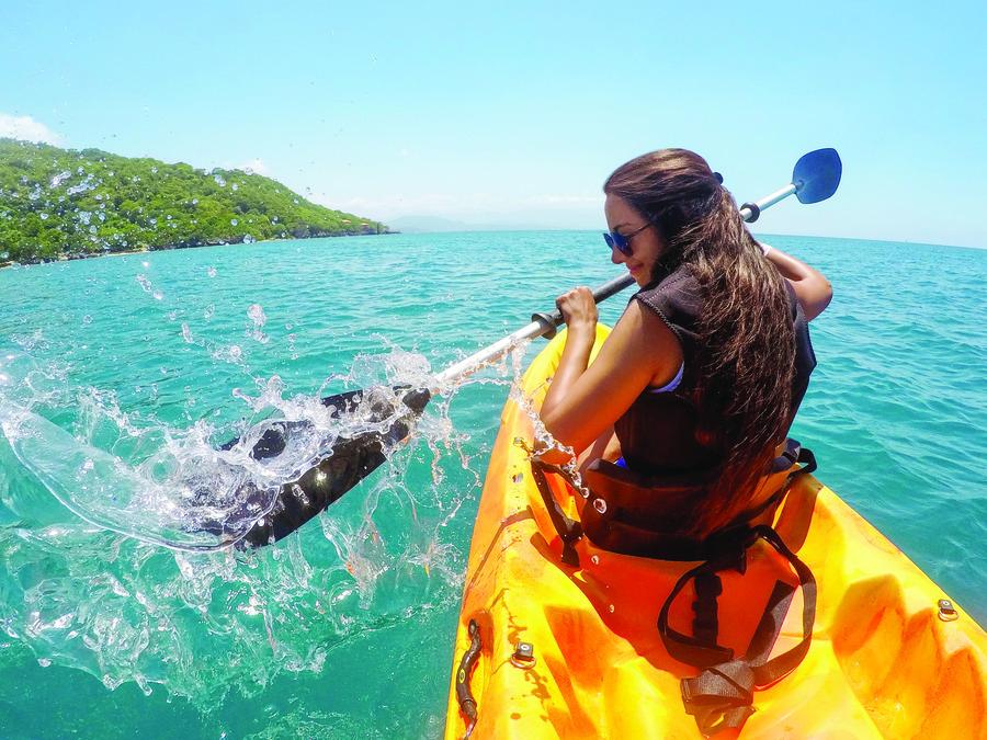 Atividade em Labadee, ilha privada da Royal Caribbean e destino do Allure of Seas