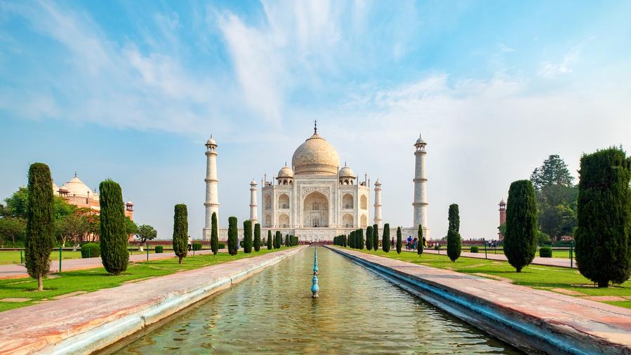 Taj Mahal, na Índia, um dos destinos para um cruzeiro na Ásia