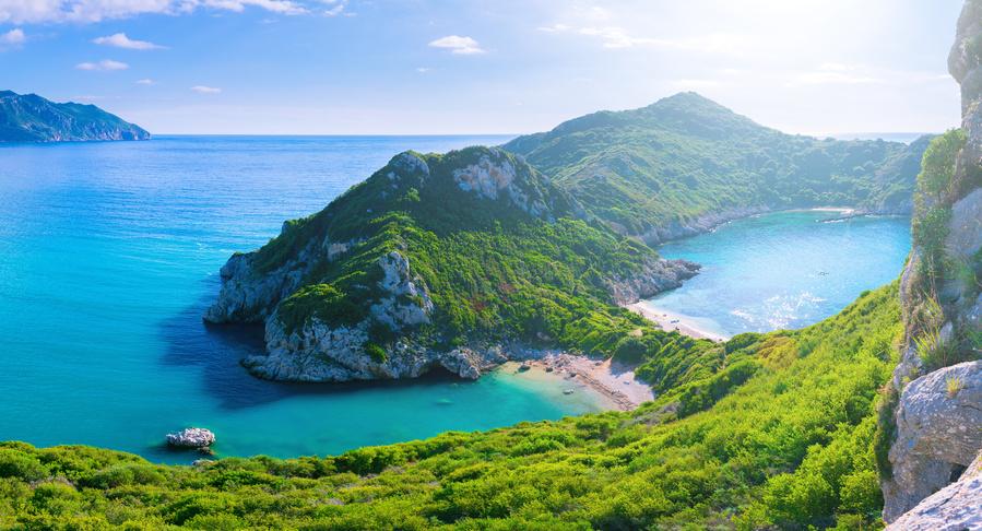 Corfu, nas Ilhas Gregas